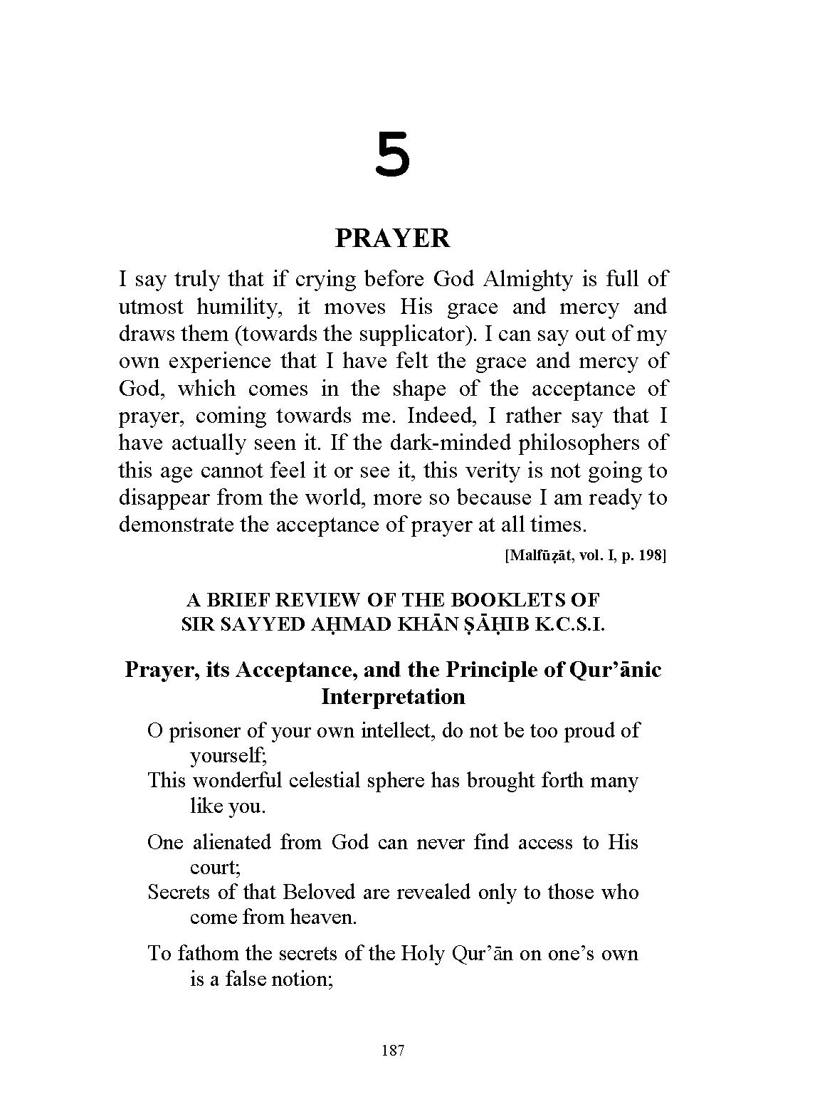 The Essence of Islam - Volume 2: 187
